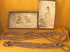Antique Japanese Buddhist Meiji P. Wood Prayer Beads