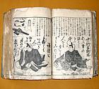 Antique Japanese Edo Period Hand Carved Encyclopedia