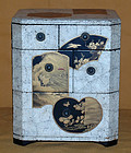 Antique Japanese Crushed Egg Shell Lacquered Vanity Box