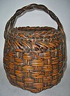 Antique Japanese Signed  Bamboo Flower Basket
