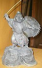 Antique Japanese Bronze Patron of Fisherman, Ebisu