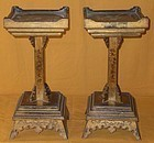 Antique Japanese Zen Temple Altar Stands C.1885