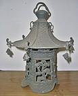 Antique Japanese Bronze Garden Lantern