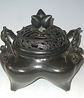 Antique Japanese Bronze  Incense Burner C.1930