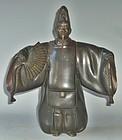 Antique Japanese Signed Shusei Bronze Noh Figure