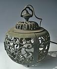 Antique Japanese Bronze Garden Lantern  C.1935