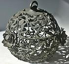 Antique Japanese Bronze Lantern Showa Period C. 1950