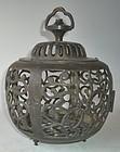 Antique Japanese Bronze Lantern C. 1950