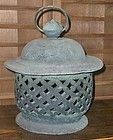 Antique Japanese Bronze Late Meiji Period Lantern