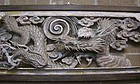 Antique Japanese Museum Quality Temple Dragon Transom