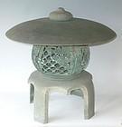Antique Japanese Bronze Garden Lantern, C.1920