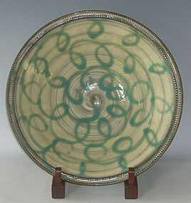 Contemporary Signed Yanase Asao Ceramic Plate