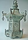 Antique Japanese Bronze Lantern C.1930
