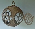 Antique Japanese Taisho Period C.1920 Iron Lantern