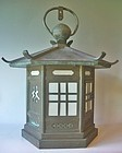 Antique Japanese Large Bronze Lantern C.1950