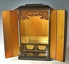 Antique Japanese Lacquered Zushi Altar C. 1935