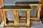 Antique Japanese Buddhist Temple Offerring Tables