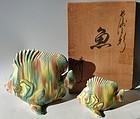 Antique japanese Nagasaki Sansai Ceramic Fish C.1960