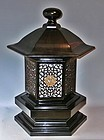 Antique Japanese Large  Lacquered Buddhist Temple Lamp