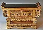 Antique Japanese Buddhist Temple Large Altar Table
