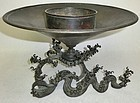 Antique Japanese Bronze Wave Ususbata Signed Kanki