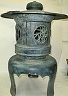 Antique Japanese Bronze Garden Lantern C. 1950