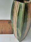 Antique Japanese Signed Kato Josuke XX Oribe Vase w/Box