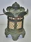 Antique Japanese Bronze Buddhist Temple Lamp C.1890