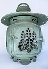 Antique Japanese Bronze Lantern C.1920