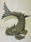 Antique Japanese Bronze Meiji Period Dragon Incense Censor C.1890