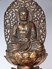 Japanese Contemporary Wood Amidha Buddha