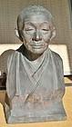 Antique Japanese Bronze Statesman Statue, Taisho Period C.1915