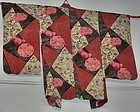 Antique Japanese Silk Haori Kimono Showa Period, C.1950