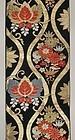 Antique Japanese Silk Obi Textile, C.1950