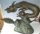 Contemporary Japanese Bronze Dragon Temple Water Spout