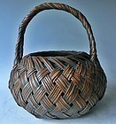 Antique Japanese Taisho Period C.1925 Signed Toun Flower Basket