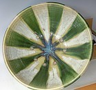 Antique Japanese Art Deco Shigaraki Ceramic Huge Bowl