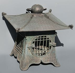 Antique Japanese Bronze Taisho Period C.1920 Lantern