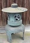 Antique Japanese Large Bronze Garden Lantern C.1950
