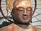 Antique Japanese Museum Wood Buddha Dated C.1630 Early Edo Period