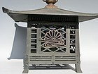 Antique Japanese Bronze Early Showa Period Lantern C.1935