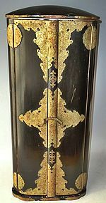 Antique Japanese Large Buddhist Samurai Travelling Shrine/Altar C.1890