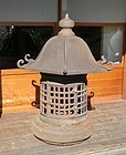 Antique Japanese Huge Iron Garden Lantern C.1920