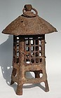 Antique Japanese Taishoo Period C.1912-26 Iron Lantern