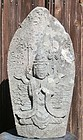 Antique Japanese Granite Stone Jizo Bodhisattva Dated C.1716