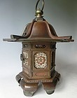 Antique Japanese Bronze Early Meiji Period Bronze Lantern Dated C.1872