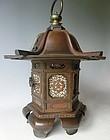 Antique Japanese Bronze Early Meiji Period Bronze Lantern Dated C.1872