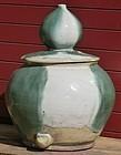Antique Japanese Shigaraki Meiji Period C.1890 Water Jar