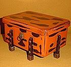 Antique Edo Period Negoro Lacquer Sweets Box c.1860