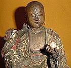 Antique Japanese Edo Jizo Bosatsu Temple Carving (1681)